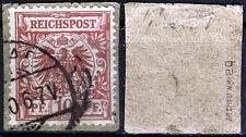 DR 47 BA, pezzo di lettera, 10 PF. CORONA/Adler, vivace bisticcio, Gepr. ZENKER BPP