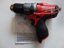 "Milwaukee 2404-20 12V Li-Ion 1/2""  Cordless Hammer Drill Brushless Fuel New"