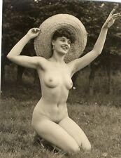 """201 # Vintage """"Agfa Lupex"""" Photo ca 1960 Pin-up girl nude nudo nu Akt FKK Nudist"""
