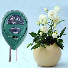 Plant Flowers 3 in1 Soil PH Tester Moisture Light Meter hydroponics Analyzer