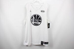New Nike Jordan 3XL Golden State Warriors Durant #35 All Star Basketball Jersey