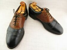 Footjoy Classics Black Brown Weave Saddle Golf Shoes 51284 VTG Men's US 11 D