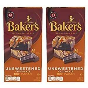 Baker's Unsweetened Baking Chocolate Bar Pack of 2
