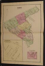 Pennsylvania Lebanon County Map Union Township 1875 Double Pg/Side W15#38
