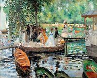 Renoir 1869, La Grenouillere, Fade Resistant HD Art Print or Canvas
