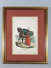 LITHOGRAPHIE H. Bellangé, Kaiserliche Garde, Mamelouk, cheval, encadrée