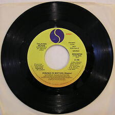 """Talking Heads 'Houses in Motion' Remix USA 1980 Promo 7"""" 45 with Mono & Stereo"""