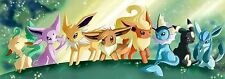 Pokemon Eevee Flareon-  Wall Poster - 34 in x 12 in ( Fast shipping )