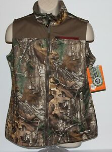 Field & Stream Realtree HydroHalt Women's Large Camouflage Hunting Vest-NWT