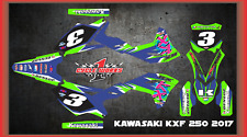 2017 KAWASAKI KX250 KX 250F CUSTOM  GRAPHIC KITS RETRO2