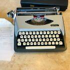 1965 Vintage-ROYAL Eldorado DeLuxe-Manual Portable Typewriter & Case-Grey