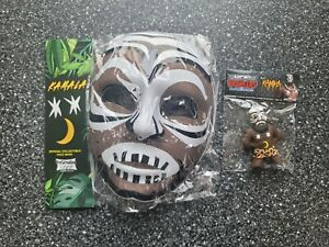 Kamala Micro Brawler Figure & Halloween Mask! Pro Wrestling Crate! WWF WWE RIP
