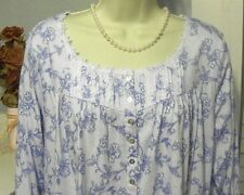 NWT S Small Eileen West Blue Nightgown NEW Dreamtime Jersey 100% Cotton  Gown