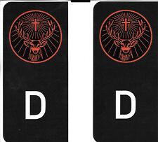 D-Sticker Autoaufkleber Kennzeichen Wappen Jägermeister schwarz  NEU