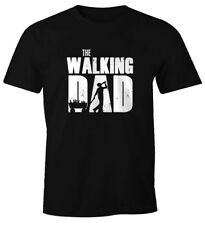 Mens T-Shirt the walking Dad Beer Father's Day Gift Fun Shirt moonworks ®