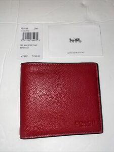 Coach Men's Wallet F75084 True RED DBL BILL SPORT CALF 227259JAX DN8