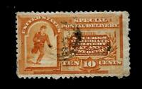 US 1893 Sc# E 3 - 10 c  Special Delivery  USED  H -  Light Cancel