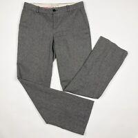 BANANA REPUBLIC Martin Fit Gray Tweed Wool Blend Dress Pants  Size 10L Long Tall