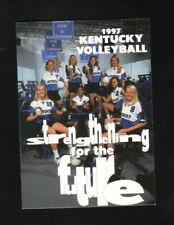 Kentucky Wildcats--1997 Volleyball Pocket Schedule