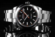 Rolex Stainless Steel Milgauss 116400, Black Dial on an Oyster Bracelet