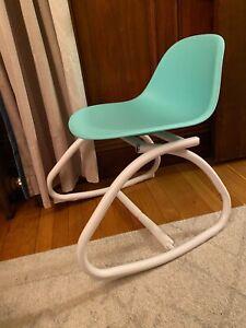 Pillowfort Sensory Friendly Rocking Activity Chair for kids, Green/White