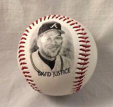1996 David Justice Atlanta Braves Baseball/Burger King