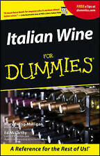 Italian Wines For Dummies by Ed McCarthy, Mary Ewing-Mulligan (Paperback, 2001)