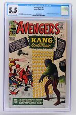 Avengers #8 - Marvel 1964 CGC 5.5 1st Appearance of Kang the Conqueror.