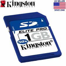 Two Kingston 1GB SD Elite Pro 50x Secure Digital Memory Card - NEW