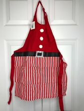 New w/ tags Kids Childs Santa Claus Outfit Cooking Apron w/ Pockets - Adjustable