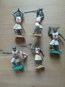Vintage 60s Timpo Crusades Knights Templar Medieval Swoppet  Britains