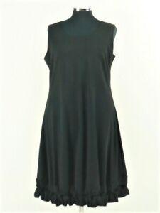 Boris Industries -Kleid -Tunika - Knotensaum - Ärmellos -Größe 5- Farbe:Schwarz