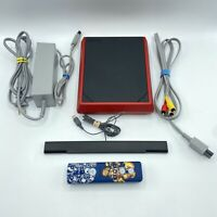Nintendo Wii Mini Red System Console 8GB w/ Controller, Power, & Video - Tested