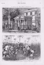 1876 antique print-West Indies Cuba Havane Christophe Colomb Chapelle (242)