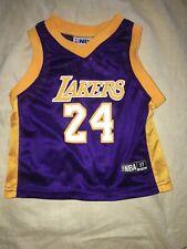 Toddler NBA #24 Kobe Bryant 3T Purple and Yellow Lakers Jersey