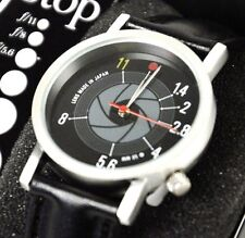 F-STOP WATCH wrist watch CAMERA fun PHOTOGRAPHY ~ APERTURE TIME ~ retro SLR