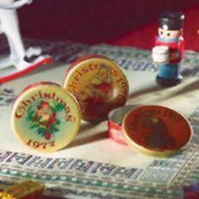 Weihnachtsdosen 3 Stück Christmas Tins 3 pcs Dollhouse Puppenstube 1:12 Art 3868