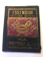 SUPER RARE 1908 ESSENDON FOOTBALL CLUB Membership Season Ticket VG COND. BOMBERS
