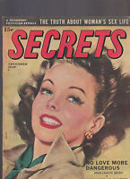 Secrets Magazine November 1949 Truth About Woman's Sex Life