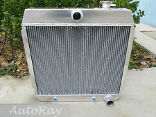 3 Rows Aluminum Radiator for Ford Chevy Bel Air W/Cooler V8 1955-1957 Auto 56