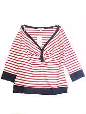 BRAVISSIMO WOMENS/LADIES TOP COTTON  in red stripe (2)