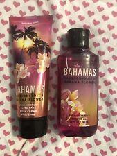 Bath & Body Works Bahamas Passion Fruit Banana Flower Set Shower Gel & Cream