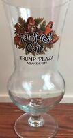 Rainforest Cafe Trump Plaza Atlantic City Vintage Casino Souvenir Glass
