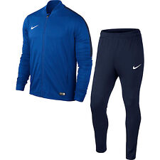 Kids Nike Tracksuit Boys Junior Football Sports Full Tracksuits Bottoms Top XS Age 6-8 Royal Blue