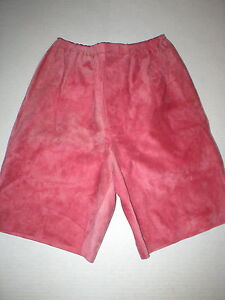 WOW New Womens 2 NWT Italy Designer Marni Shorts 38 Pink Rouge Red Leather Suede