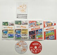 Nintendo Wii Play & Wii Play Motion 2 Game Bundle! COMPLETE!!