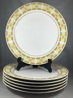 6 Noritake Progression Sunglow Dinner Plates 9042 Floral