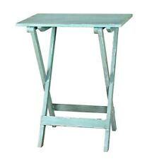 Mint Green Folding Table Wooden Fold Away Single by Originals