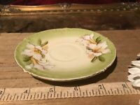 Antique Vintage P T Germany White Floral Saucer 4 7/8""