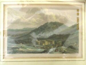 ~1830 ANTIQUE SMALL GEORGIAN PRINT ~ HOLYROOD HOUSE EDINBURGH ~ SCOTLAND - VGC~